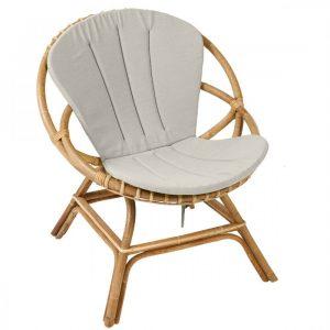 Coussin pour fauteuil en rotin Brigitte | Coussin fauteuil ..