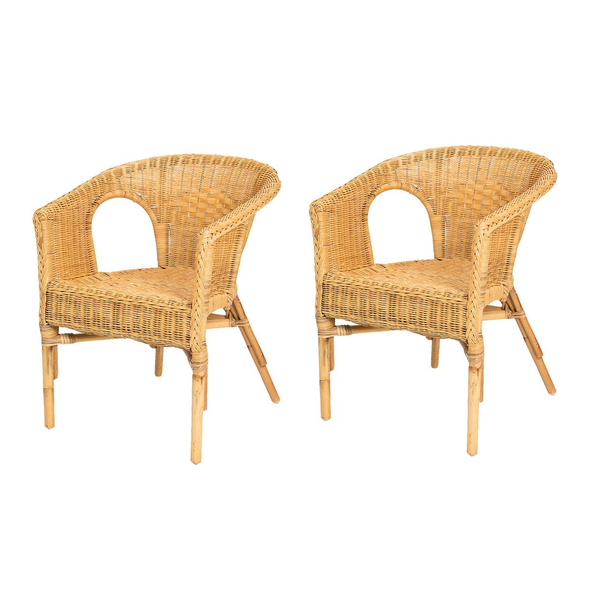 Lot de 2 fauteuils CHRIS Miel